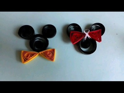 Paper quilling micy mouse