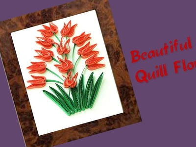 Quill Paper || How to Make Beautiful???????? Quilling Flowers || paper Flowers Tutorial ||