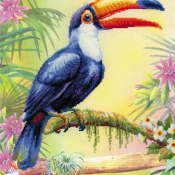 Tucan Bird Cross Stitch Pattern***LOOK*** ***INSTANT DOWNLOAD***