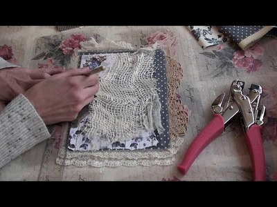Tutorial P2 - Shabby Lace and Paper Book