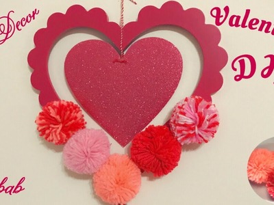VALENTINE'S DAY DECOR | Dollar Tree DIY |  Heart Shaped Wall Hanging | Home Decor