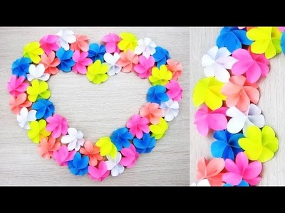 Wall Decoration Ideas. Heart Design Valentine's Day Room Decor Ideas. Paper Flower Wall Hanging 78