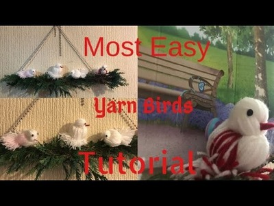 Yarn Birds.Wall Decor.DIY yarn birds