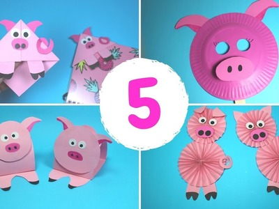 5 Easy Year of the Pig Paper Crafts for Kids | Paper Pig Crafts