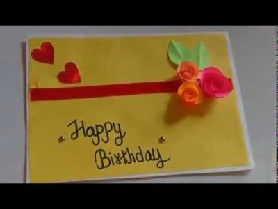 Beautiful handmade birthday card ideas. diy greeting card idea for birthday