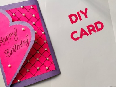 Beautiful Handmade Birthday card. DIY Birthday Greeting card.DIY card