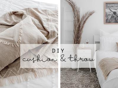 Boho Linen Cushion and Throw DIY | Kmart Hack