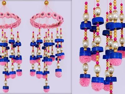 Bottle Cap Reuse Idea | DIY Jhumar Making at Home | Handmade Things