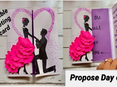 DIY 2019 II propose Day card II beautiful handmade Valentine's Day greeting card latest designs 2019