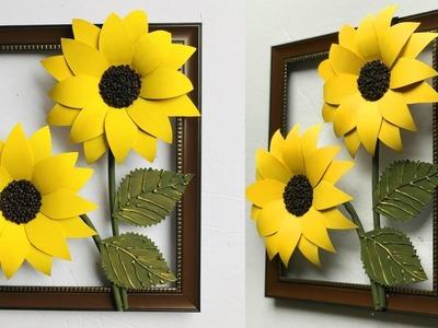 DIY Beautiful Sun Flower Wall Decor | Home Decoration | Wall Hanging | #36 |