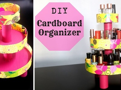 DIY Cardboard Organizer | Makeup Organizer | DIY Cake Stand Organizer