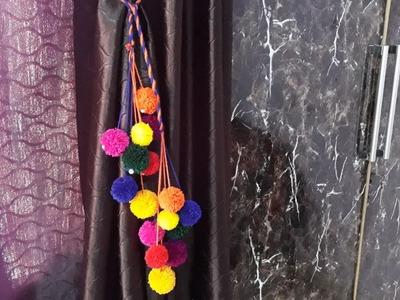 DIY curtain Tie Back| Room Decor 2019| Simple home decoration Ideas| Woolen DIY