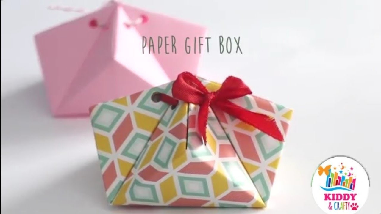 Diy Paper Gift Box Easy Paper Boxes Diy Activities