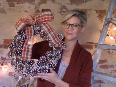 DIY Pinecone Wreath (Winter Decor How-To)