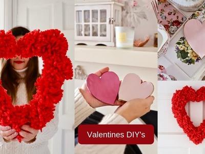 DIY Pom Pom heart wreath | Valentines day DIY's