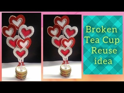 DIY ROOM DECOR 2019 | NEW - Best out of waste broken cup reuse idea| Handmade Things