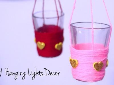 DIY Room Decor for Valentines Day | Hanging Lights | DIY Hanging Decoration Ideas