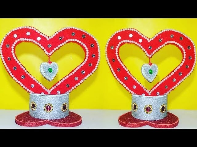 DIY Valentines Day Special Beautiful Heart Showpiece, Home