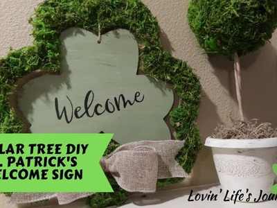 Dollar Tree DIY St. Patrick's Welcome Sign | Farmhouse Door Decor