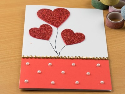 Easy ! Beautiful Handmade Valentine's Day card idea | DIY Greeting Cards for Valentine's day