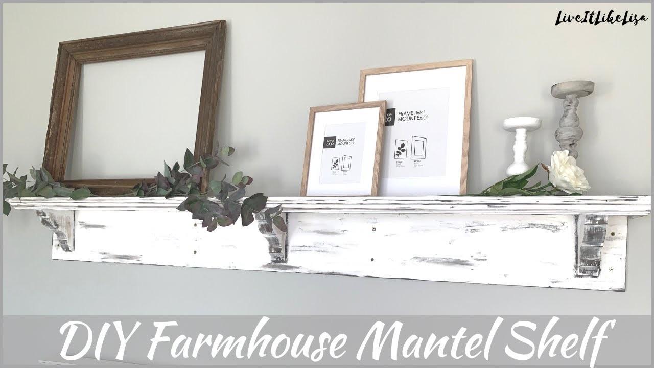 FARMHOUSE BEDROOM   DIY   How To Make A Mantel Shelf