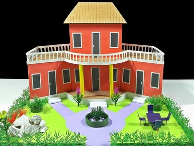 How To Make Beautiful Dream House With Cardboard-DIY Dream House