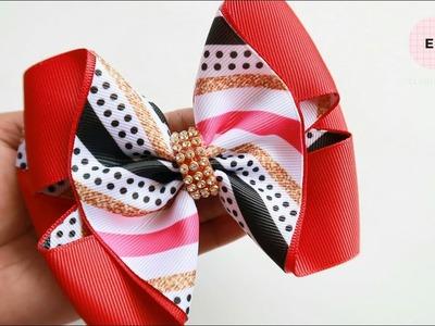 Laço de Fita ???? Laço Formoso Fita N9 ???? Ribbon Bow Tutorial #8 ???? DIY by Elysia Handmade