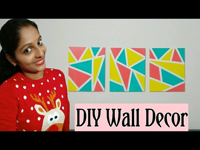 My New Simple & Easy D.I.Y Wall Decor for Bedroom for Beginners || Wall Decor Painting || Home Decor