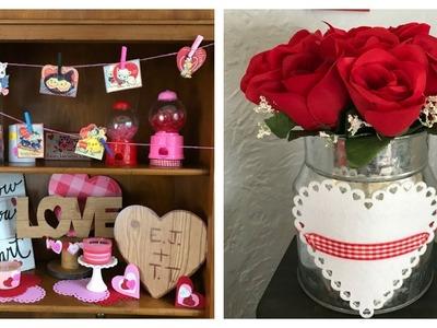 My Valentine's Day Decor & Simple Dollar Tree DIY's