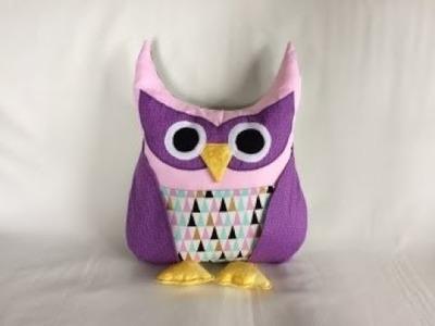 Owl Pillow l Owl Cushion With Pocket DIY