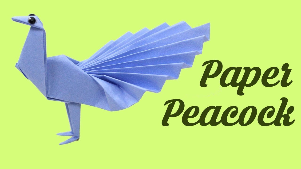 Paper Peacock, Easy Origami for Kids, Basic origami, Simple Origami for Beginners