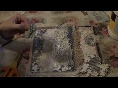 Tutorial P5 - Shabby Lace and Paper Book