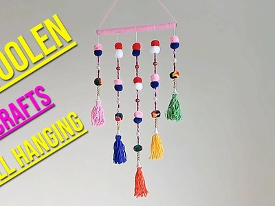 Wall Hanging DIY Out Of Wool | Woolen Flower Making | Wall Hanging Home Decor Idea