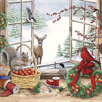 CRAFTS Window Into Winter Cross Stitch Pattern***LOOK***