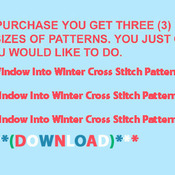 Window Into Winter Cross Stitch Pattern***LOOK***X***INSTANT DOWNLOAD***