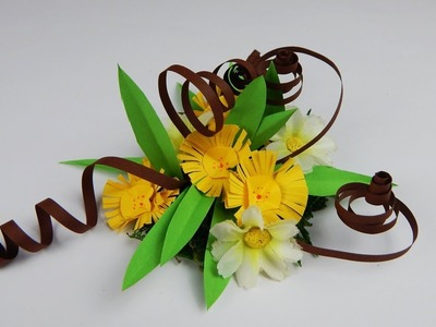 Winter decoration flowers DIY papercraft Winterdekoration Blumen