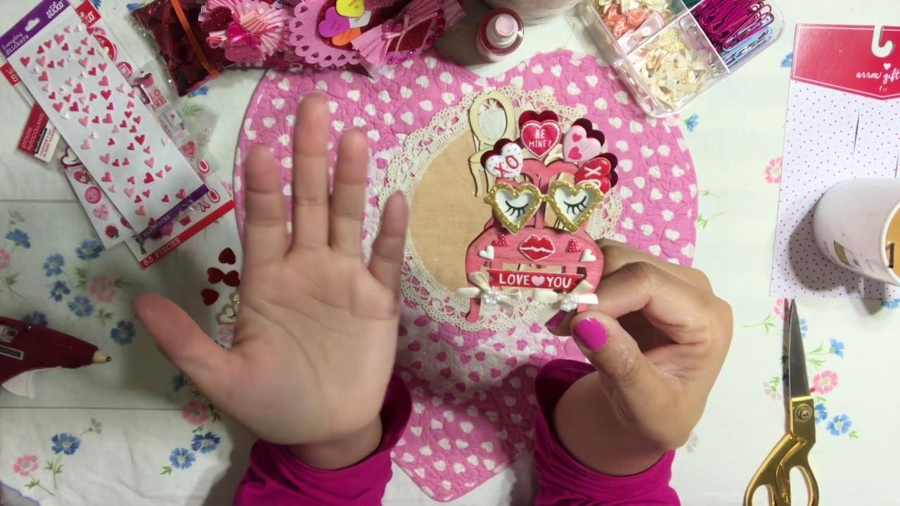 #16 Valentine's Day ????Series 2019 - DIY Embellishment Ideas Simple & Easy - Handmade Craft