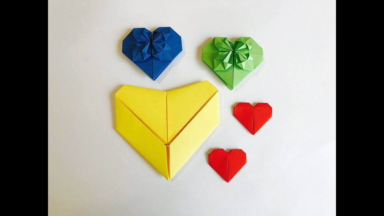 3 Easy To Make Origami Hearts #2 : totikky tikky