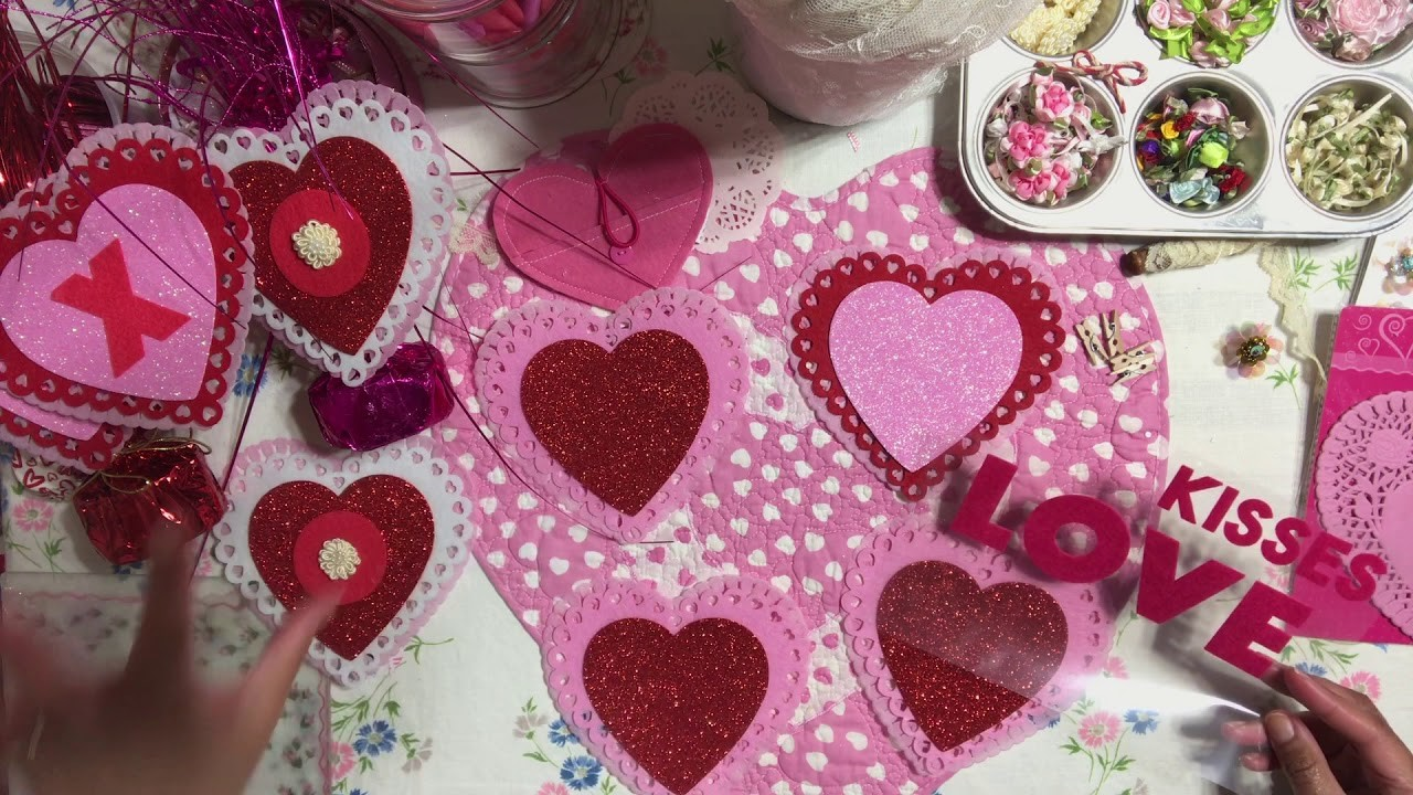 #3 Valentine's Day????Series 2019 - DIY Layered Heart Embellishments from Dollar Tree