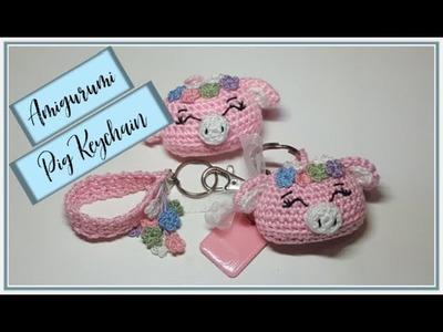 Amigurumi Pig Keychain
