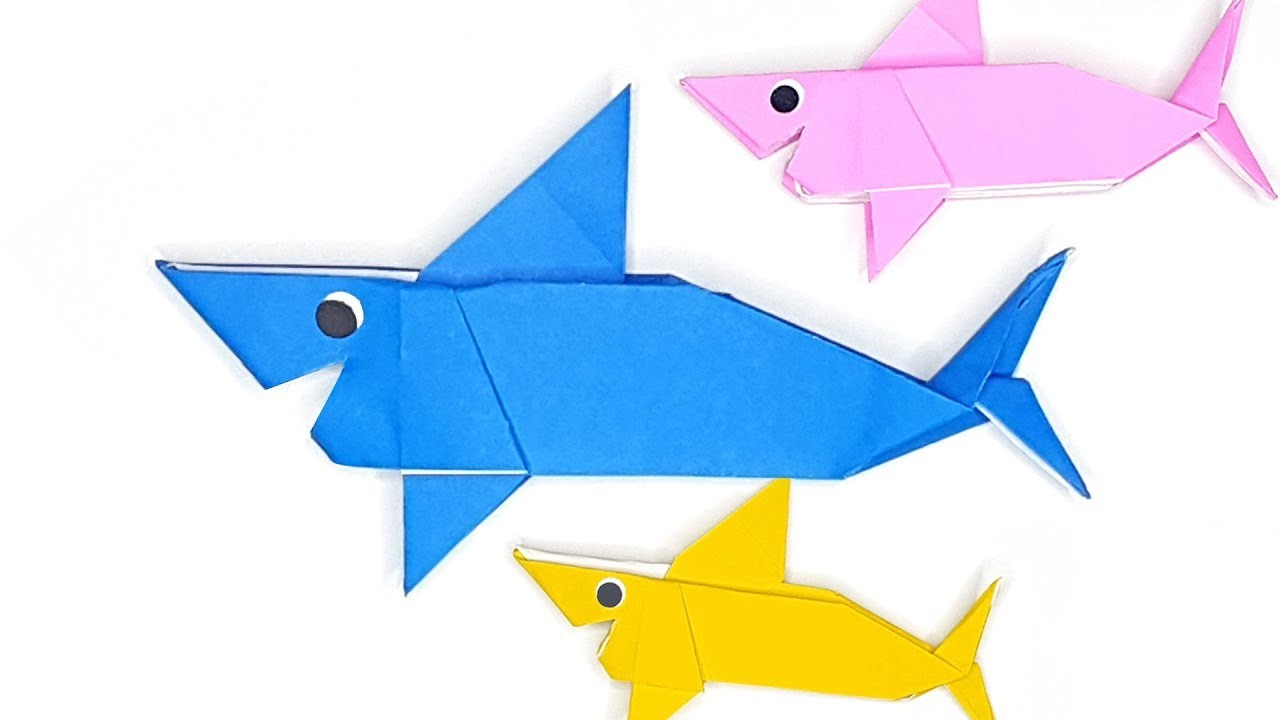 Baby shark origami