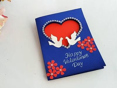 Beautiful Handmade Valentine's Day Card Idea. DIY Greeting Cards for Valentine's Day card.