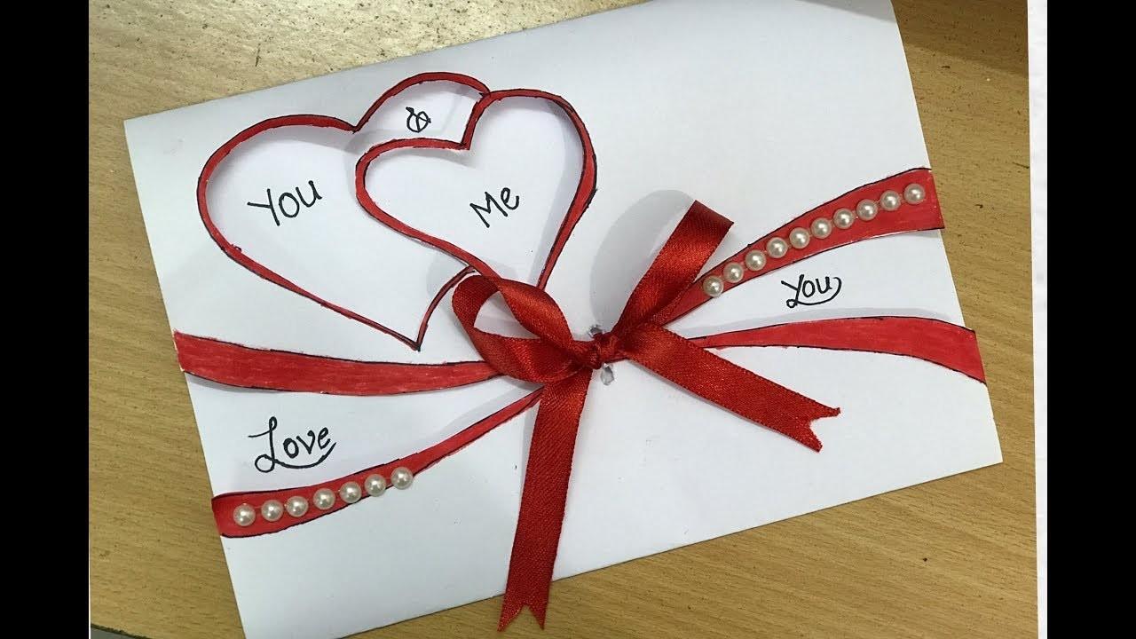 Beautiful Handmade Valentine's Day Card Idea |DIY Greeting Cards for Valentine's Day card