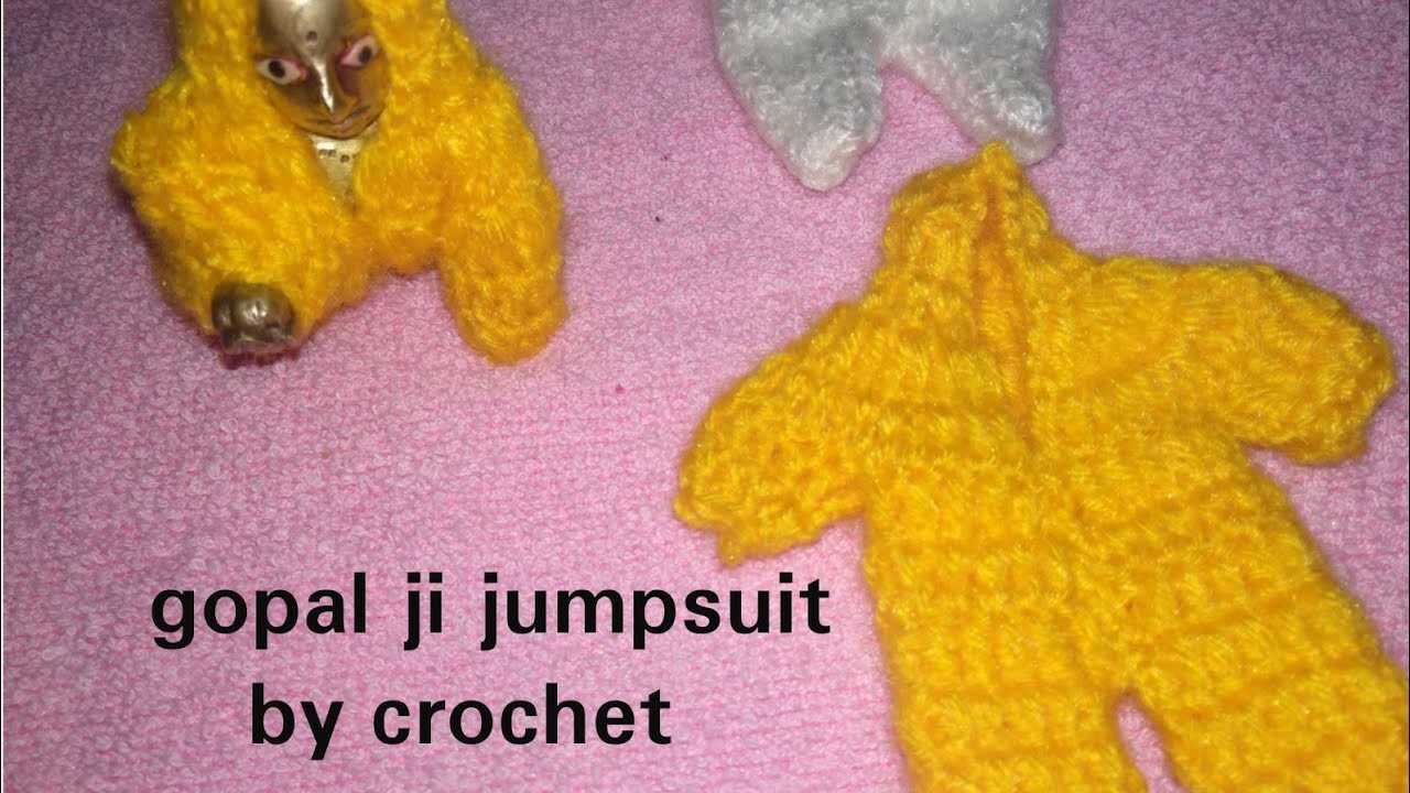 #crochet gopal ji jumpsuit. . Jumpsuit by crochet for laddu gopal ji very easy