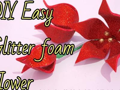 DIY Easy Glitter Foam Flower