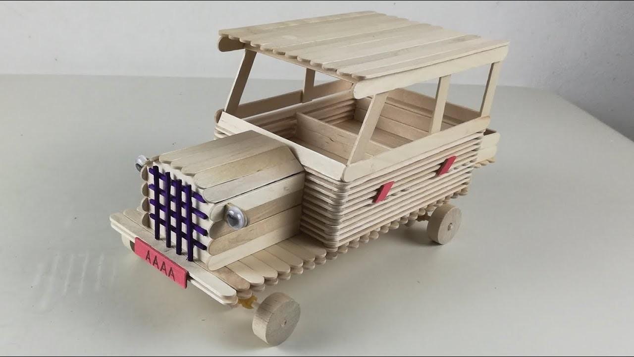 DIY handmade | how to make classic cars with ice cream bars
