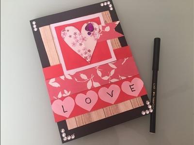 DIY Handmade Valentines card.Love cards making for Boyfriend.Handmade Gift ideas for Valentine's Day