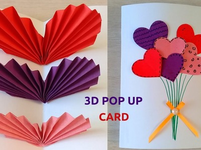 DIY How to Make Easy Pop Up Card | Heart Balloon Greeting Card for any Occasion
