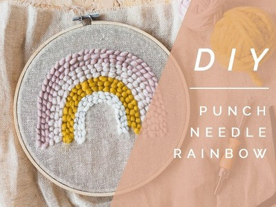DIY Punch Needle Rainbow