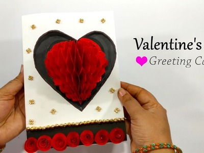 DIY Valentine's Day Card For Him.Her - Love Heart Greeting Card - Valentine Gift Ideas 2019